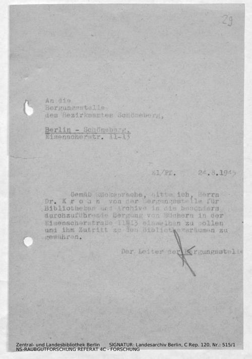 Landesarchiv Berlin, C Rep. 120 Nr. 515/1, Bl. 29