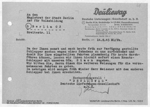 Landesarchiv Berlin, C Rep. 120 Nr. 515/1, Bl. 61