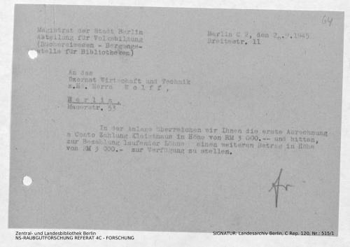 Landesarchiv Berlin, C Rep. 120 Nr. 515/1, Bl. 64