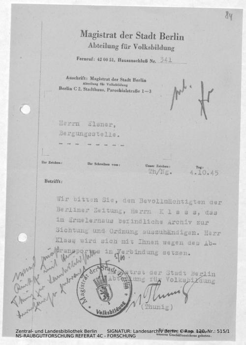 Landesarchiv Berlin, C Rep. 120 Nr. 515/1, Bl. 84