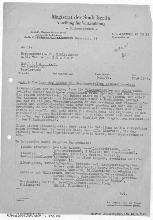 Landesarchiv Berlin, C Rep. 120 Nr. 515/1, Bl. 85