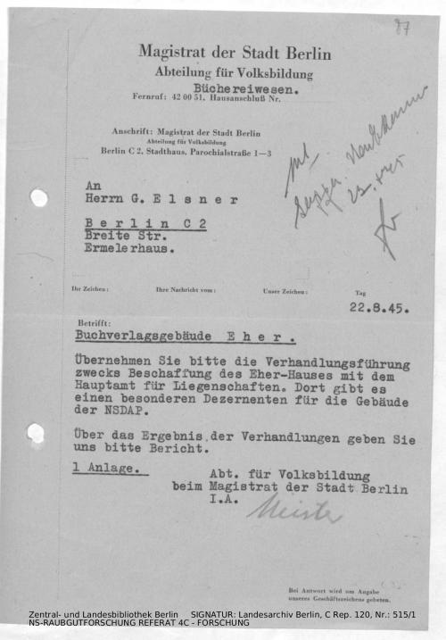 Landesarchiv Berlin, C Rep. 120 Nr. 515/1, Bl. 87