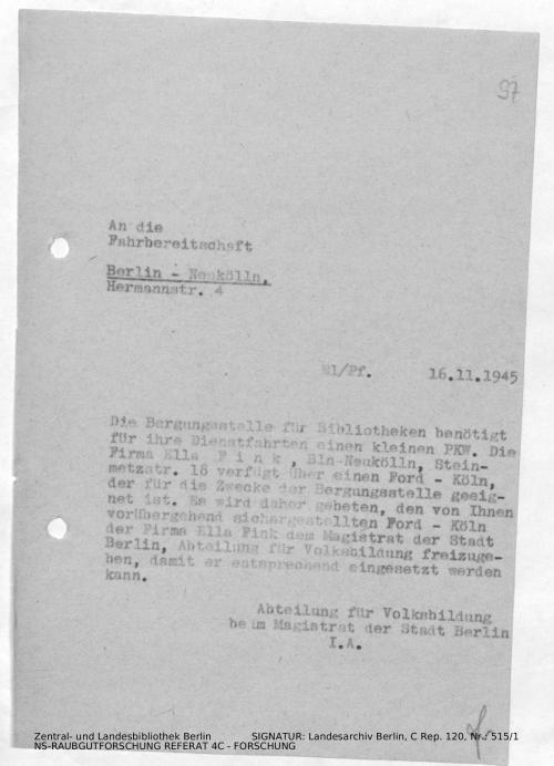 Landesarchiv Berlin, C Rep. 120 Nr. 515/1, Bl. 97