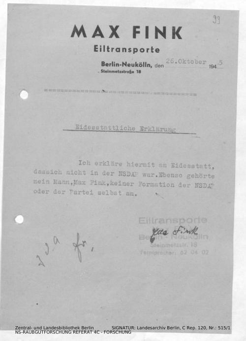 Landesarchiv Berlin, C Rep. 120 Nr. 515/1, Bl. 99