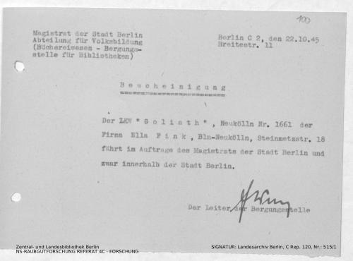 Landesarchiv Berlin, C Rep. 120 Nr. 515/1, Bl. 100