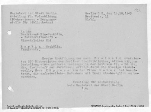 Landesarchiv Berlin, C Rep. 120 Nr. 515/1, Bl. 103