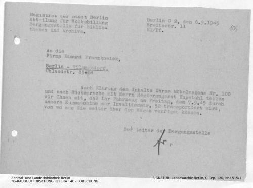 Landesarchiv Berlin, C Rep. 120 Nr. 515/1, Bl. 105