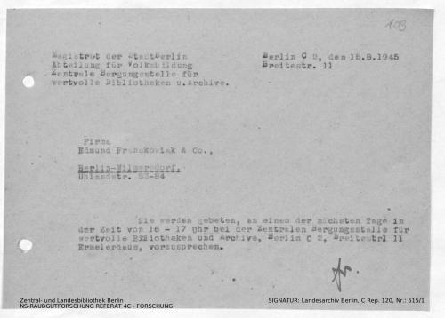 Landesarchiv Berlin, C Rep. 120 Nr. 515/1, Bl. 109