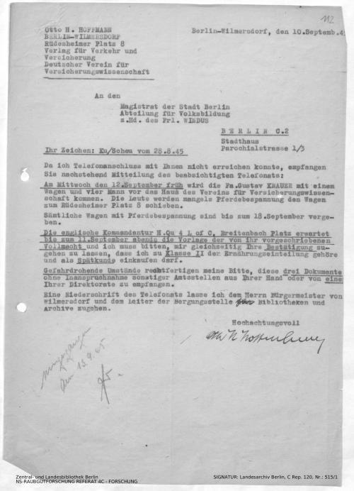 Landesarchiv Berlin, C Rep. 120 Nr. 515/1, Bl. 112