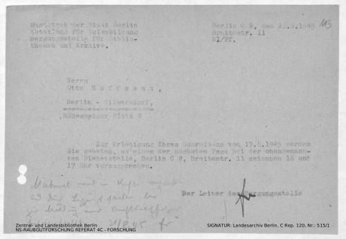 Landesarchiv Berlin, C Rep. 120 Nr. 515/1, Bl. 113