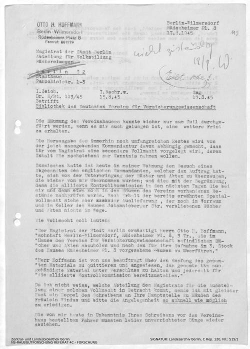 Landesarchiv Berlin, C Rep. 120 Nr. 515/1, Bl. 115