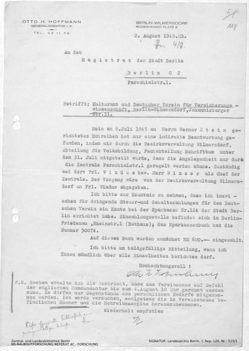 Landesarchiv Berlin, C Rep. 120 Nr. 515/1, Bl. 118