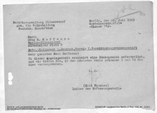 Landesarchiv Berlin, C Rep. 120 Nr. 515/1, Bl. 121