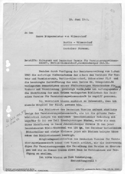 Landesarchiv Berlin, C Rep. 120 Nr. 515/1, Bl. 124