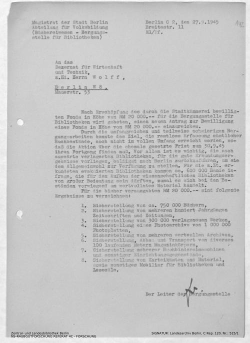 Landesarchiv Berlin, C Rep. 120 Nr. 515/1, Bl. 142