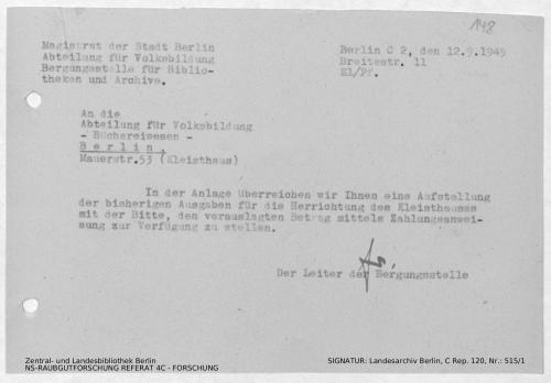 Landesarchiv Berlin, C Rep. 120 Nr. 515/1, Bl. 148