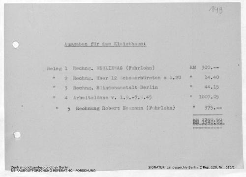 Landesarchiv Berlin, C Rep. 120 Nr. 515/1, Bl. 149
