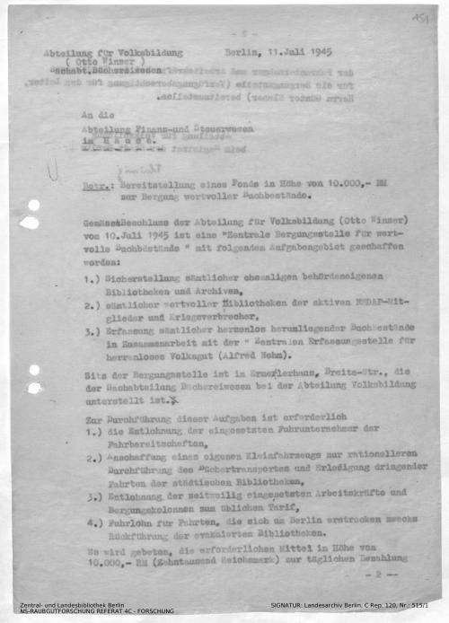 Landesarchiv Berlin, C Rep. 120 Nr. 515/1, Bl. 151