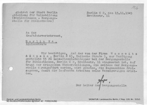 Landesarchiv Berlin, C Rep. 120 Nr. 515/1, Bl. 156