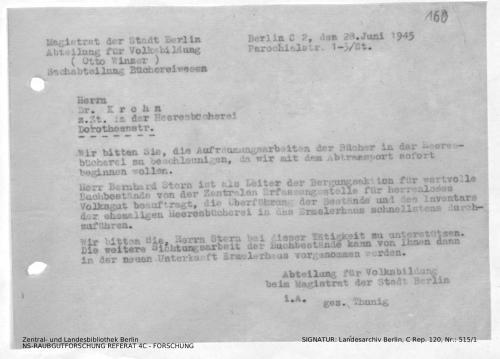 Landesarchiv Berlin, C Rep. 120 Nr. 515/1, Bl. 160