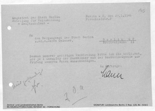Landesarchiv Berlin, C Rep. 120 Nr. 515/1, Bl. 165