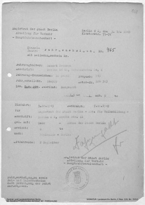 Landesarchiv Berlin, C Rep. 120 Nr. 515/1, Bl. 167