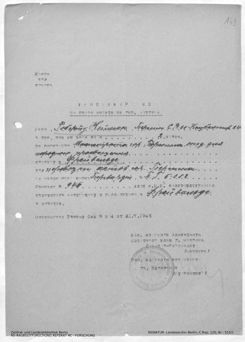 Landesarchiv Berlin, C Rep. 120 Nr. 515/1, Bl. 168