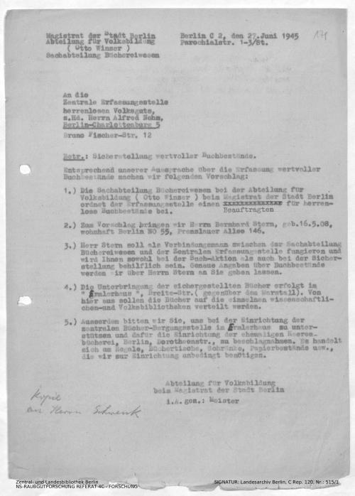 Landesarchiv Berlin, C Rep. 120 Nr. 515/1, Bl. 170