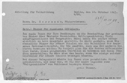 Landesarchiv Berlin, C Rep. 120 Nr. 515/1, Bl. 173