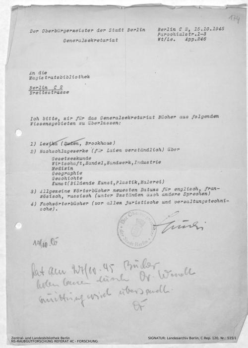 Landesarchiv Berlin, C Rep. 120 Nr. 515/1, Bl. 174