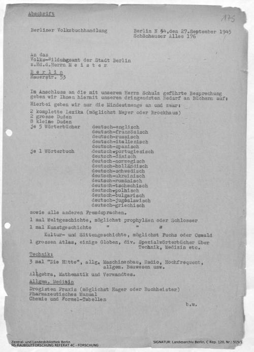 Landesarchiv Berlin, C Rep. 120 Nr. 515/1, Bl. 175