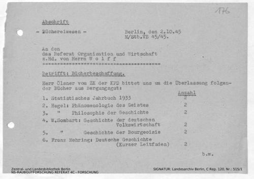 Landesarchiv Berlin, C Rep. 120 Nr. 515/1, Bl. 176