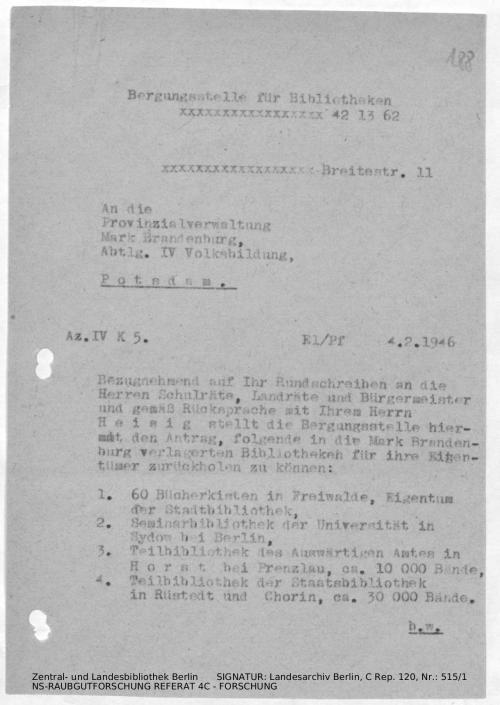 Landesarchiv Berlin, C Rep. 120 Nr. 515/1, Bl. 188