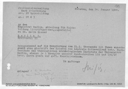 Landesarchiv Berlin, C Rep. 120 Nr. 515/1, Bl. 189