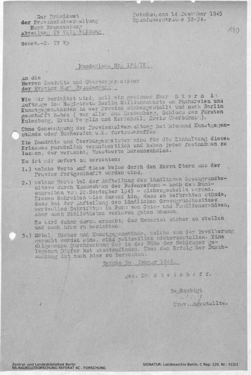 Landesarchiv Berlin, C Rep. 120 Nr. 515/1, Bl. 190