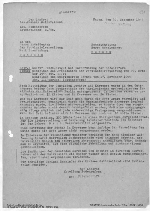 Landesarchiv Berlin, C Rep. 120 Nr. 515/1, Bl. 191