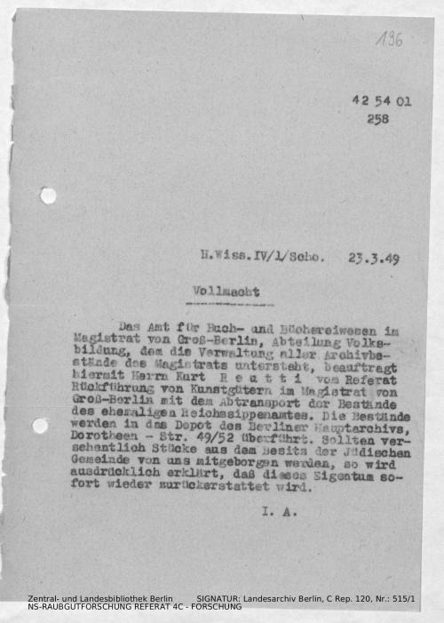 Landesarchiv Berlin, C Rep. 120 Nr. 515/1, Bl. 196