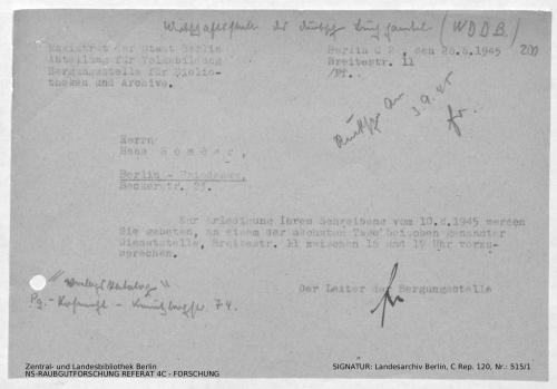 Landesarchiv Berlin, C Rep. 120 Nr. 515/1, Bl. 200