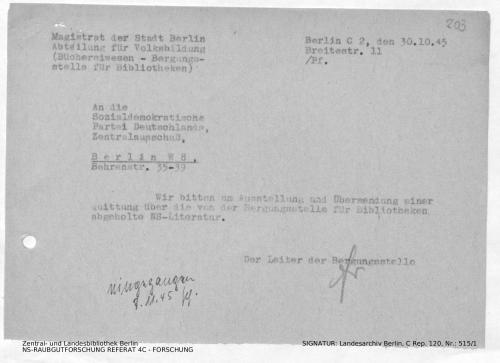 Landesarchiv Berlin, C Rep. 120 Nr. 515/1, Bl. 203