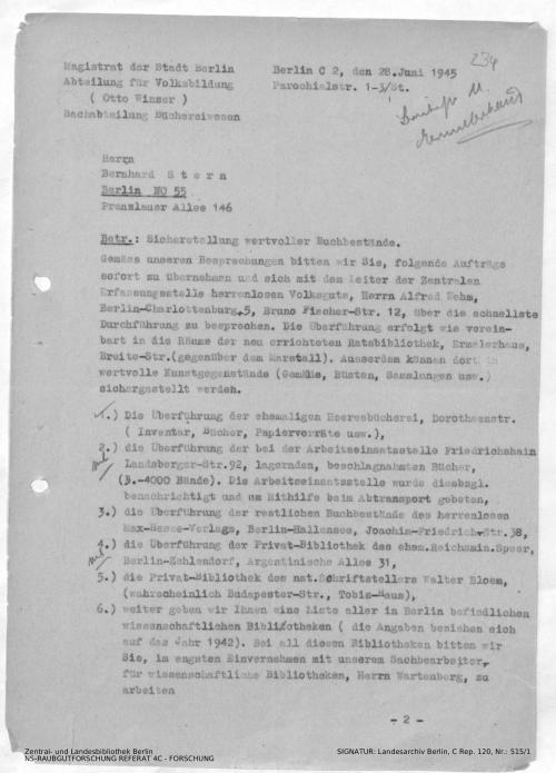 Landesarchiv Berlin, C Rep. 120 Nr. 515/1, Bl. 234
