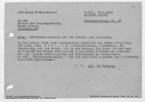 Landesarchiv Berlin, C Rep. 120 Nr. 515, Bl. 71