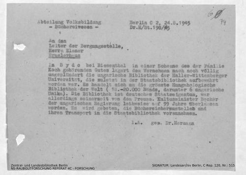 Landesarchiv Berlin, C Rep. 120 Nr. 515, Bl. 74