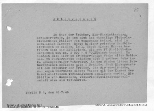 Landesarchiv Berlin, C Rep. 120 Nr. 515, Bl. 85