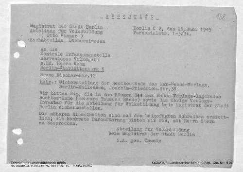 Landesarchiv Berlin, C Rep. 120 Nr. 515, Bl. 138