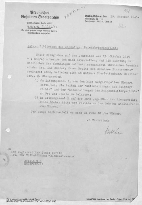 Landesarchiv Berlin, C Rep. 120 Nr. 515, Bl. 157