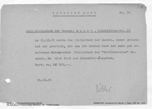 Landesarchiv Berlin, C Rep. 120 Nr. 515, Bl. 218